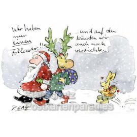 Weihnachtsmann und Elch - Wir haben einen neuen Follower! ... und auf den könnten wir auch noch verzichten.