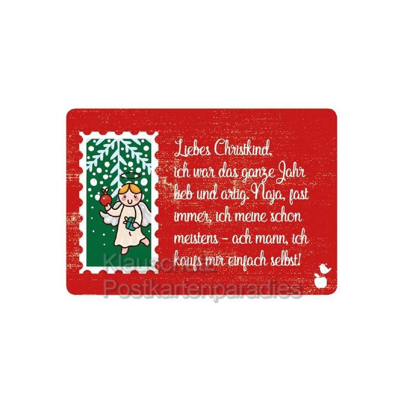 Liebes Christkind - Weihnachtspostkarte