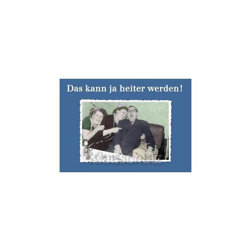 Nostalgische Foto Postkarte: Das kann ja heiter werden!