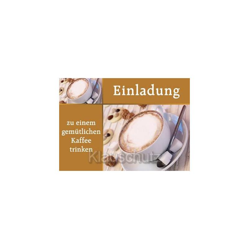 Einladung - zu einem gemütlichen Kaffeetrinken | Postkarten Einladungen