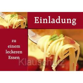 Einladung - zu einem leckeren Essen | Postkarten Einladungen