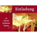 Einladung - zu einem leckeren Essen   Postkarten Einladungen
