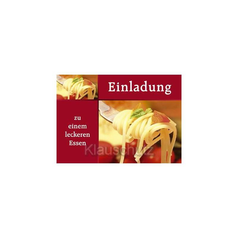 Einladung   Zu Einem Leckeren Essen | Postkarten Einladungen
