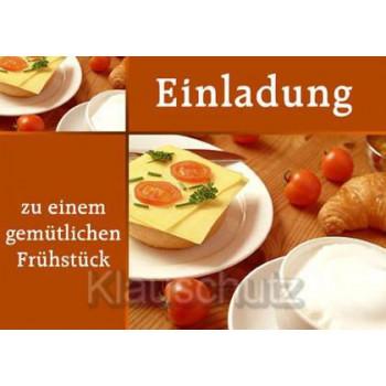 Einladung - zu einem gemütlichen Frühstück | Postkarten Einladungen