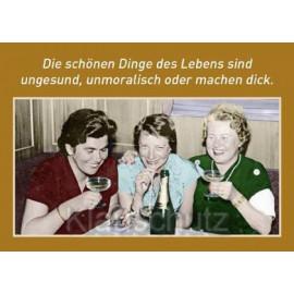 Postkartenparadies Sprüche Postkarte: Die schönen Dinge des Lebens ...