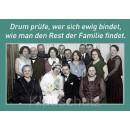 Postkarte Hochzeit / Hochzeitskarten   Drum prüfe, wer sich ewig bindet, wie man den Rest der Familie findet.