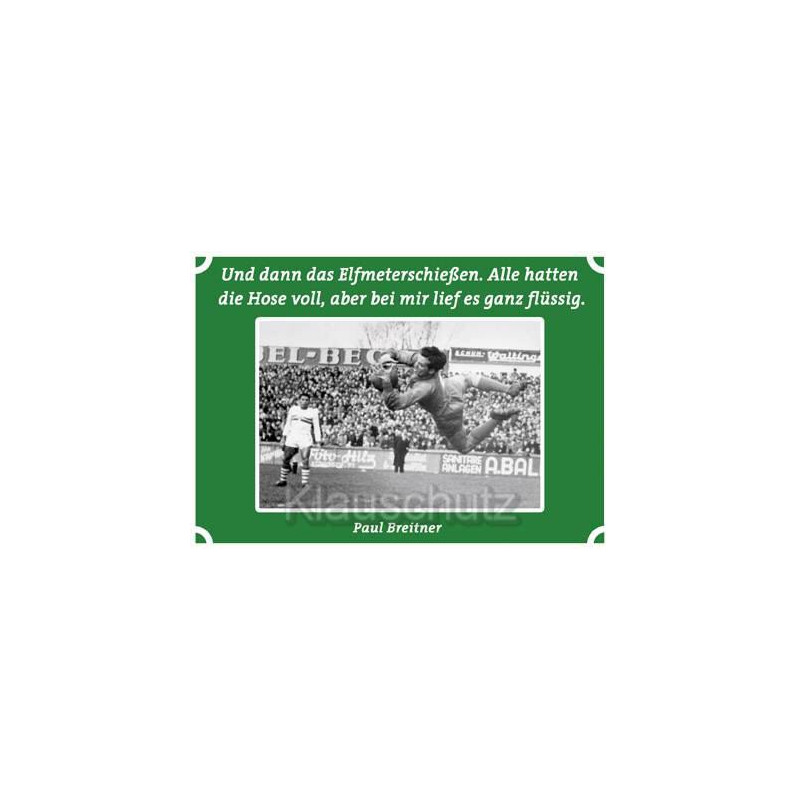 Fußball Postkarte Das Elfmeterschießen