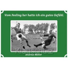 Postkarten Fußball - Vom Feeling her hatte ich ein gutes Gefühl. Andreas Möller