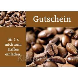 Gutschein für 1x mich zum Kaffee einladen - Postkarte