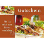 Postkarte Gutscheine |Gutschein für 1x mich zum Essen einladen.