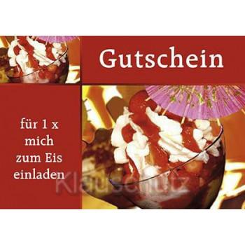 Postkartenparadies Postkarte Gutscheine |  Gutschein - für 1x mich zum Eis einladen