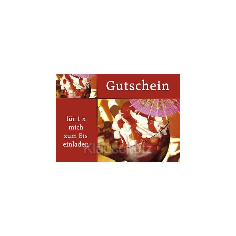 Postkarte Gutscheine | Gutschein   Für 1x Mich Zum Eis Einladen