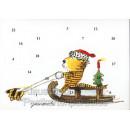Janosch Postkarten Adventskalender mit dem Tiger und der Tigerente