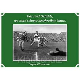 Postkarten Fußball | Das sind Gefühle, wo man schwer beschreiben kann.