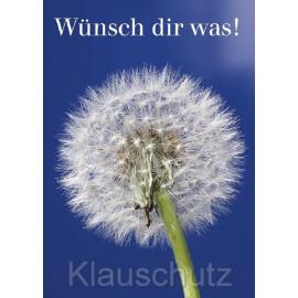 Postkarte mit Pusteblume - Wünsch dir was!