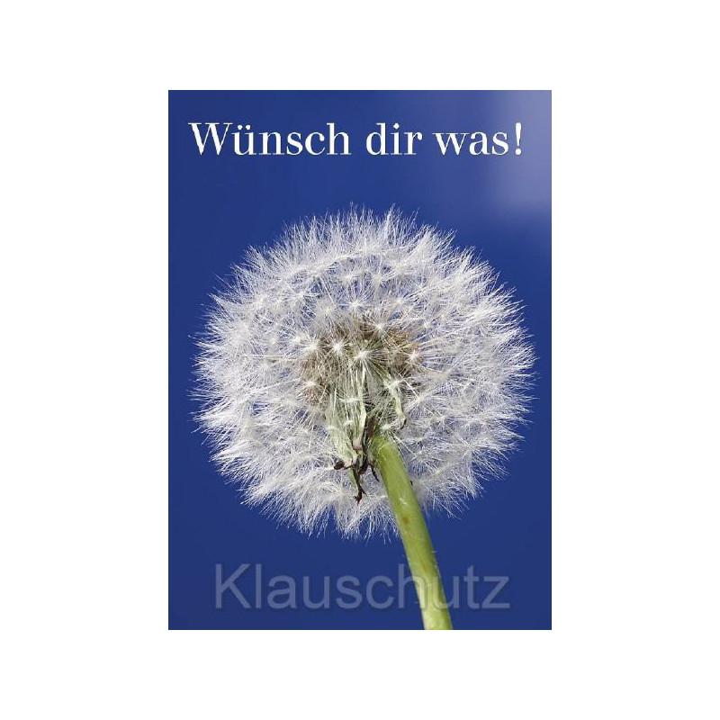Postkartenparadies Postkarte mit Pusteblume - Wünsch dir was!