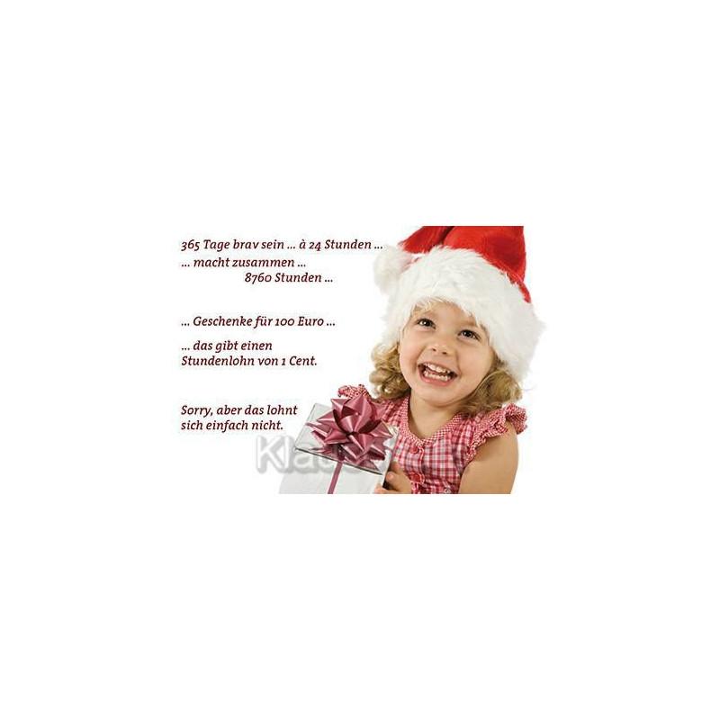 Postkarte Weihnachten / Weihnachtskarten - 365 Tage brav sein