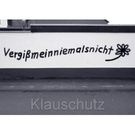 Postkarte Fotokarten Graffiti: Vergißmeinniemalsnicht