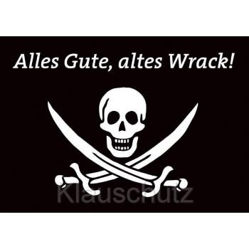 Geburtstagskarten / Postkarten Geburtstag vom Postkartenparadies | Alles Gute, altes Wrack mit Piraten Totenkopf