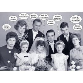 Postkarte Hochzeit / Hochzeitskarten | Sprechblasen 'Ach du Scheiße'