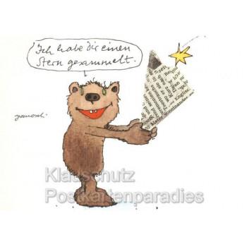 Janosch Postkarte - Hab dir einen Stern gesammelt