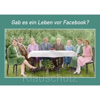Gab es ein Leben vor Facebook? Lustige Sprüche Postkarte