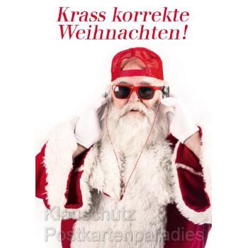Lustige Weihnachtskarte: Krass korrekte Weihnachten