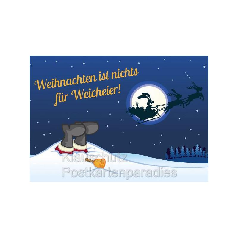 Weihnachten Ist.Weihnachten Ist Nichts Für Weicheier Postkarte