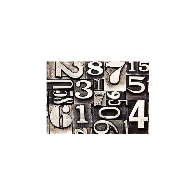 Fotokarte Postkarte vom Postkartenparadies - Typografie Zahlen