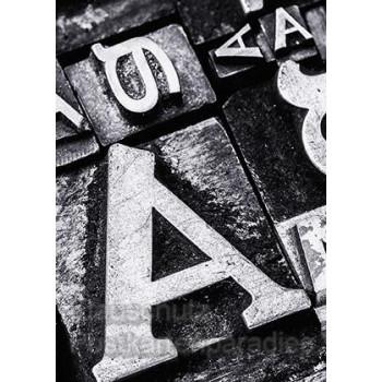 Fotokarte Typografie vom Postkartenparadies - Postkarte Buchstaben