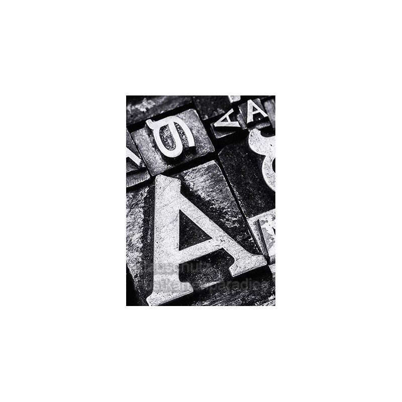 Fotokarte Typografie Postkarte Buchstaben
