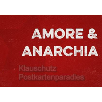 Retro Postkarte Amore & Anarchia