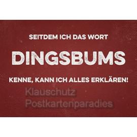 Retrostyle Postkarten - Seitdem ich das Wort Dingsbums kenne, kann ich alles erklären!