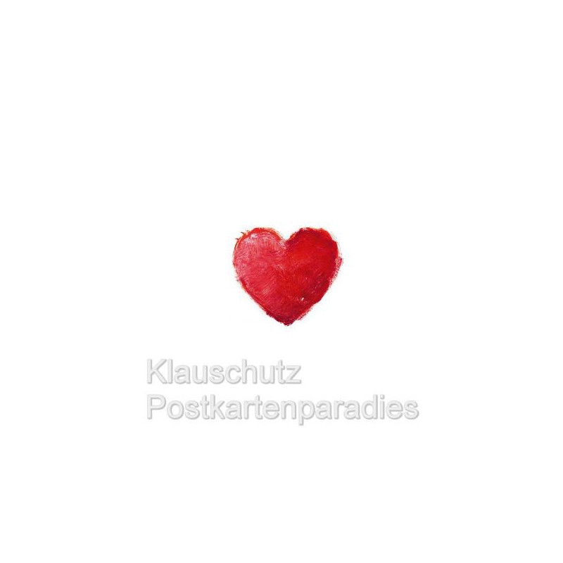 Romantische Grafik Postkarte mit Herz