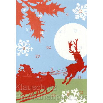 Weihnachtliche Schlittenfahrt Adventskalender