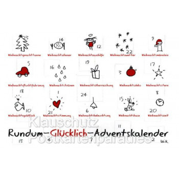 Rundum Glücklich Adventskalender Weihnachtskarte