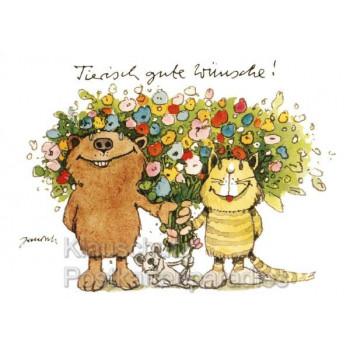 Janosch Postkarten - Tierisch gute Wünsche mit Tiger und Bär