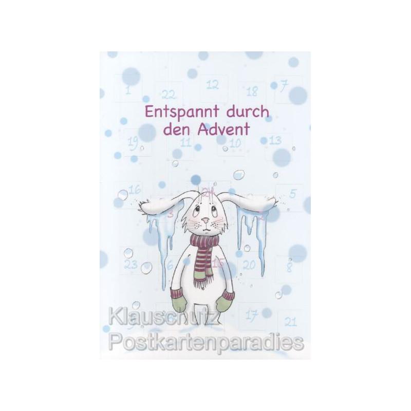 Entspannt durch den Advent Adventskalender Doppelkarte