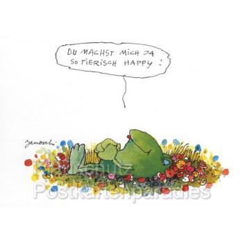 Janosch Frosch Postkarte - Machst mich tierisch happy!