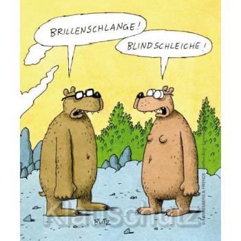 Brillenschlange - Blindschleiche - Brillenputztuch von Rannenberg