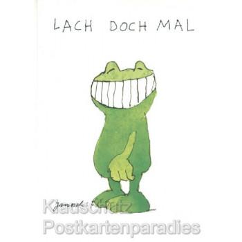 Jaosch Postkarte mit Frosch | Lach doch mal