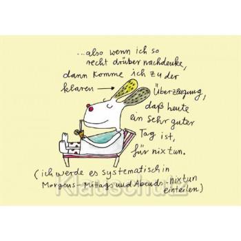Ein guter Tag für nix tun - Rannenberg Postkarte von karindrawings