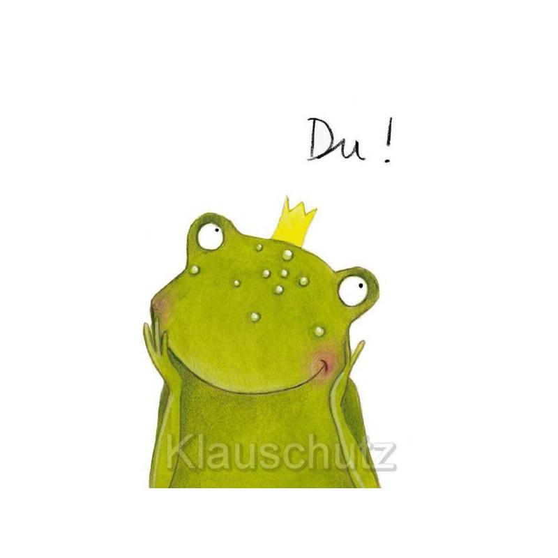 Postkarten Comic Frosch Herzensbrecher