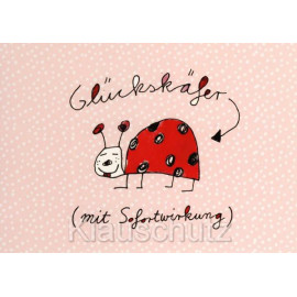 Glückskäfer (mit Sofortwirkung) - Comic Postkarten von Rannenberg und Friends