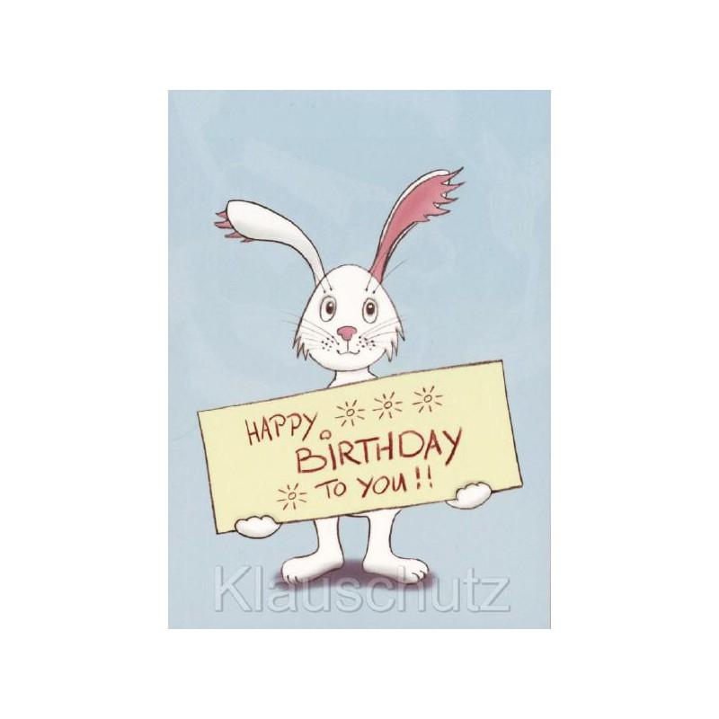 Geburtstagskarte Hasehappy Birthday