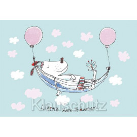 Postkarten Comic Rannenberg RF6259  Lizenz zum Träumen