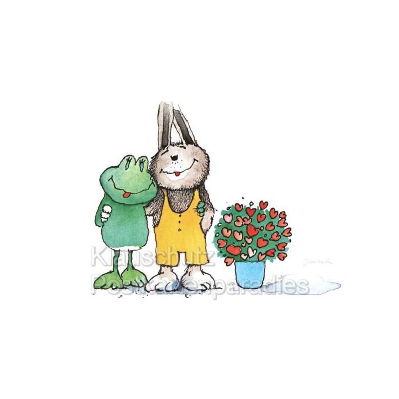Jaosch Postkarten - Frosch und Hase
