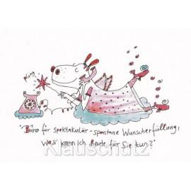 Postkarte - Büro für spektakulär-spontane Wunscherfüllung, was kann ich für Sie tun?