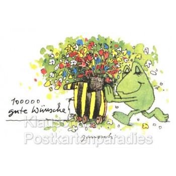 Janosch Postkarte | 100.000 gute Wünsche