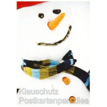 Schöne Weihnachtskarte von Rannenberg mit fröhlichem Schneemann